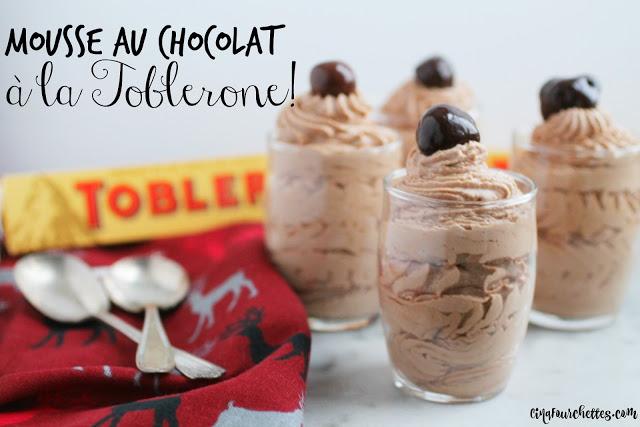 Mousse au chocolat Toblerone - 4 ingrédients! Cinq Fourchettes