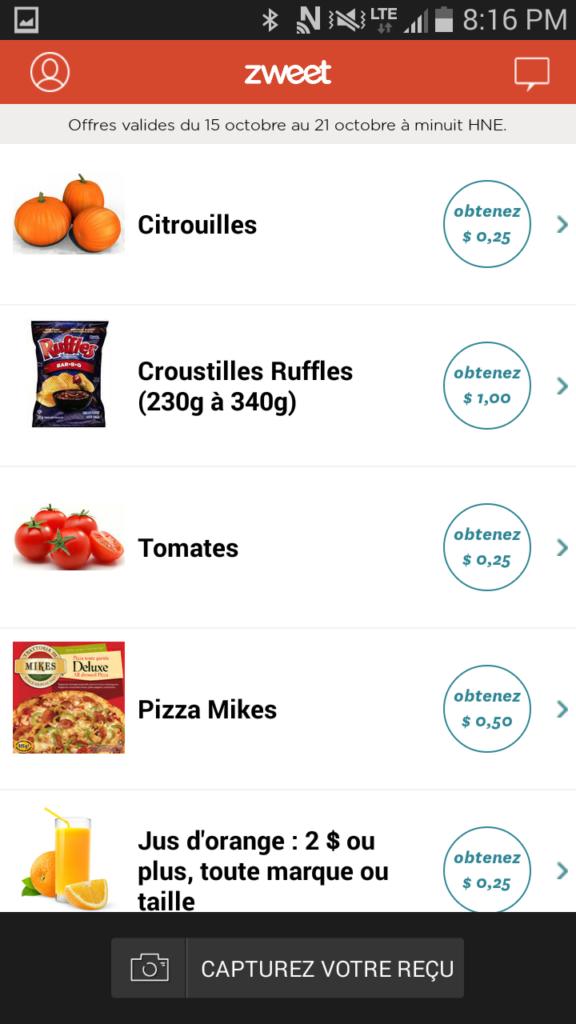 Cinq applications géniales pour économiser à l'épicerie - Cinq Fourchettes ZWEET