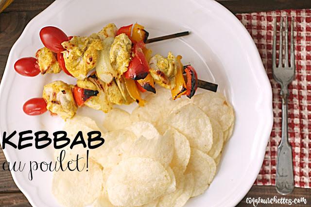Kebbab au poulet Cinq Fourchettes