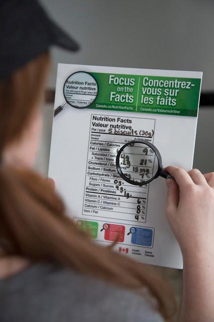 Concentrez-vous sur les faits! tableau des valeurs nutritionnelles Cinq Fourchettes