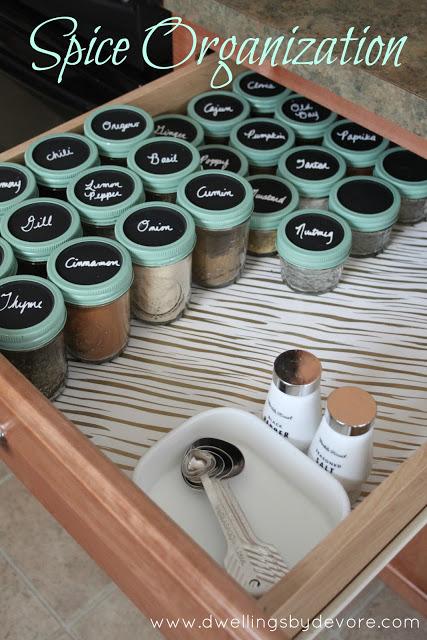 DIY Organiseur d'épices 10 façons inusitées d'utiliser ses pots Mason! Cinq Fourchettes