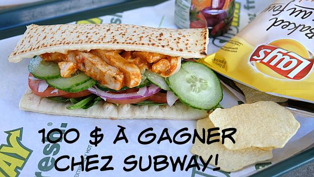Subway au poulet au beurre