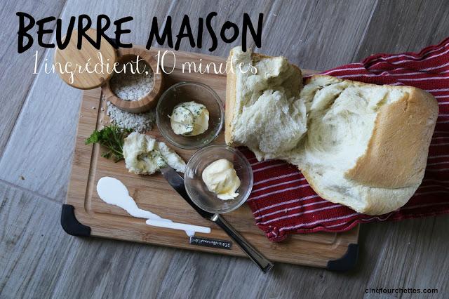 Recette de beurre maison 1 ingrédient, 10 minutes