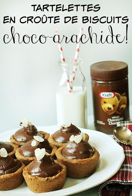 Tartelettes en croûte de biscuits choco-arachide FACILES! - Cinq Fourchettes