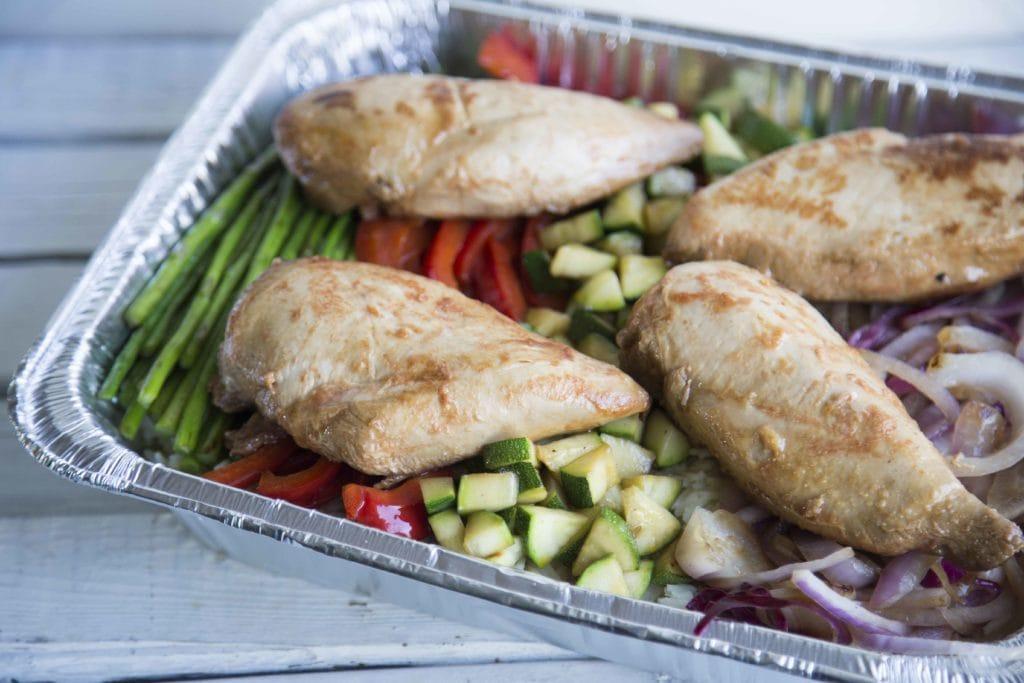 Papillote de poulet aux légumes et riz sur BBQ sans vaisselle (ou presque!) /Cinq Fourchettes