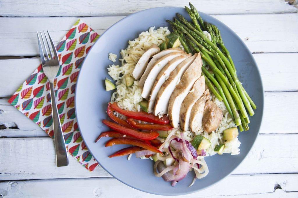 Papillote de poulet aux légumes et riz sur BBQ sans vaisselle (ou presque!) / Cinq Fourchettes