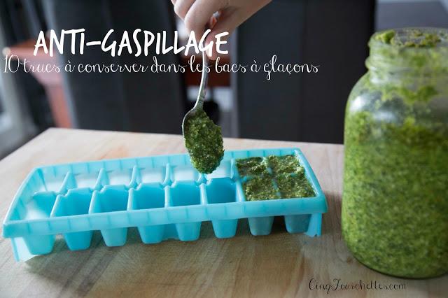Anti-gaspillage : 10 trucs pratiques à congeler dans des bacs à glaçon / Cinq Fourchettes