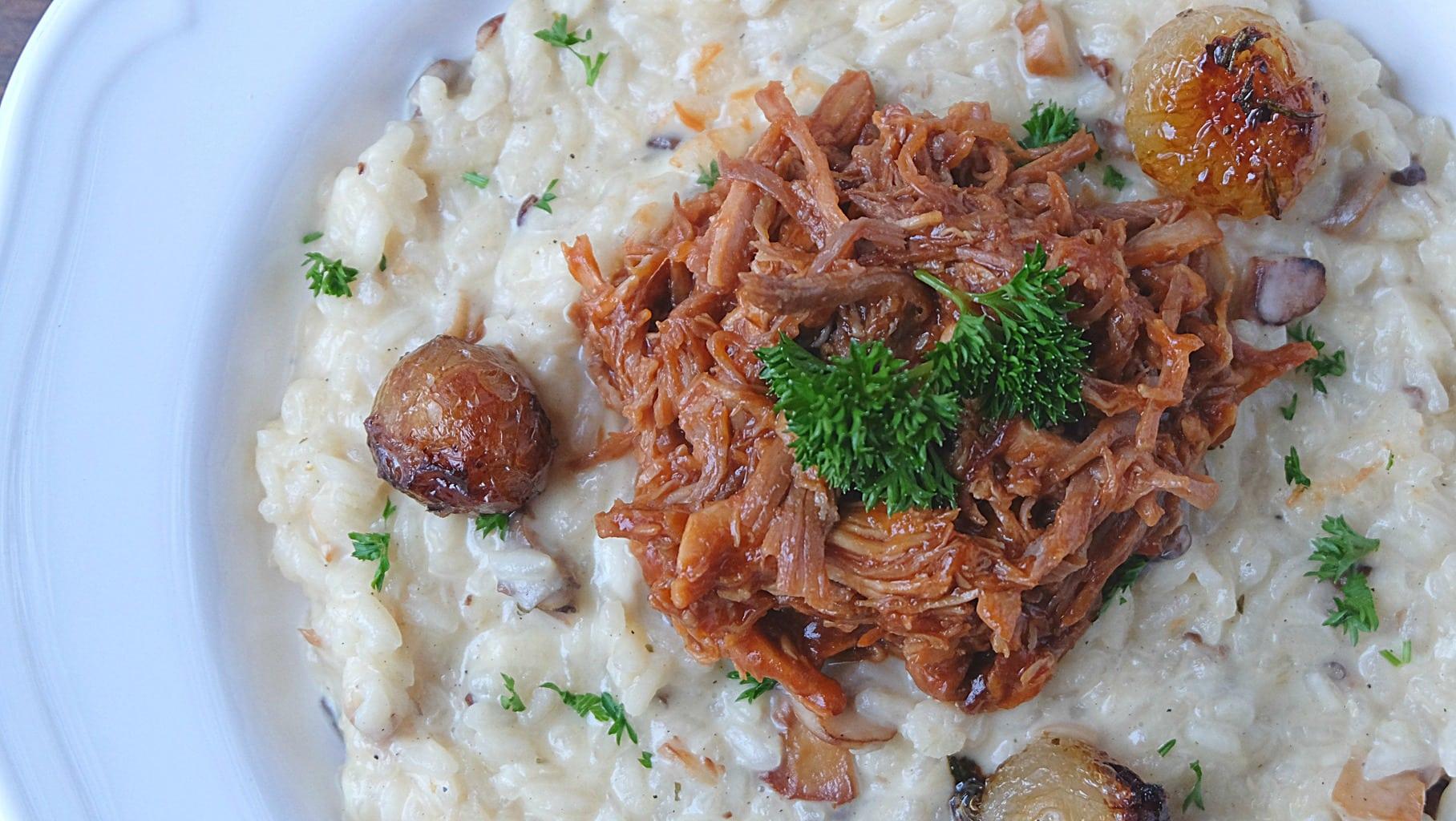 risotto-oignon-et-porc-effiloche
