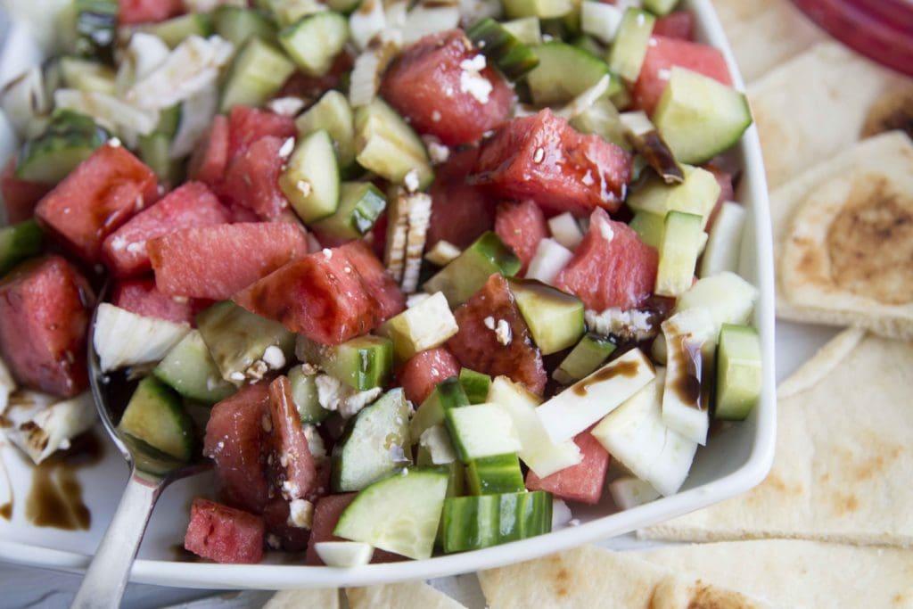 salade de melon feta et fenouil cinq fourchettes. Black Bedroom Furniture Sets. Home Design Ideas