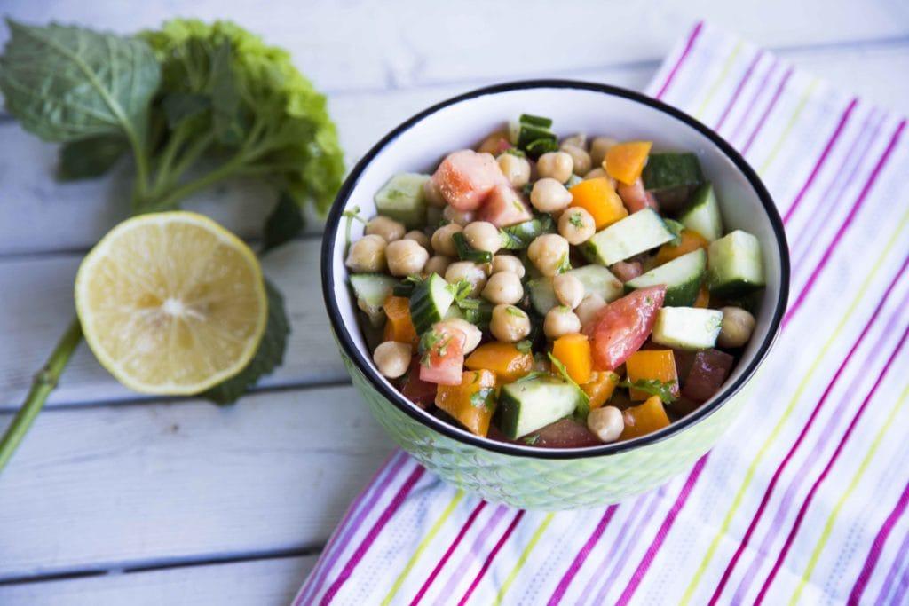 Salade de légumes et pois chiches / Cinq Fourchettes