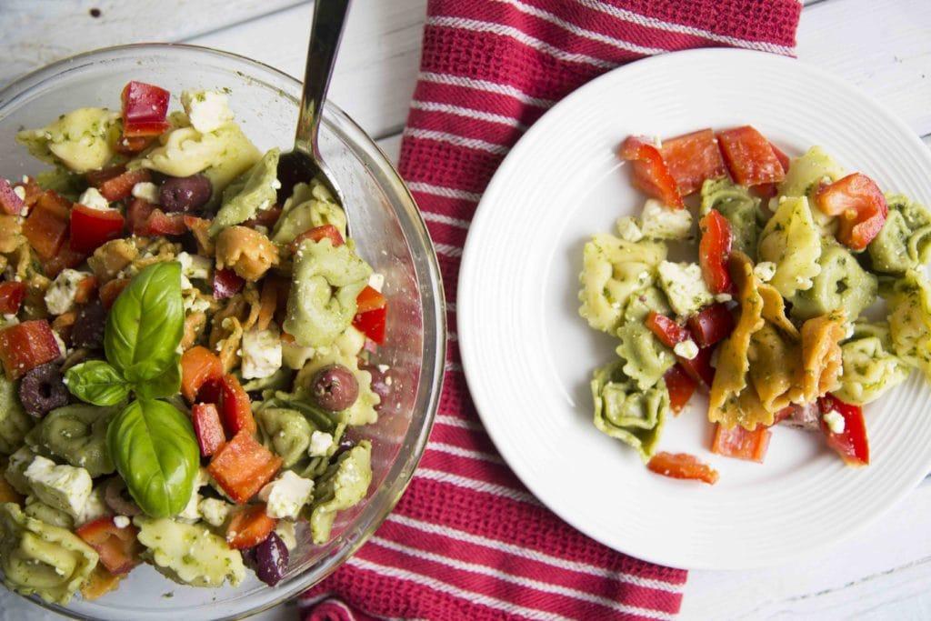 Salade de tortellinis à la grecque : LA salade à faire cet été! / Cinq Fourchettes