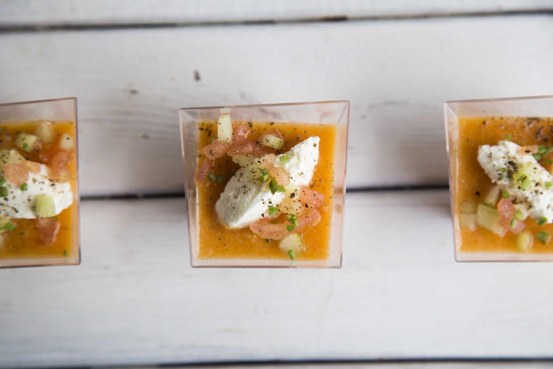 Gaspacho aux tomates / Cinq Fourchettes