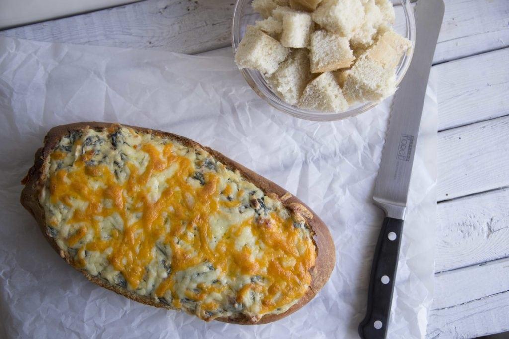 Trempette chaude aux épinards et pancetta ! COCHON ! / Cinq Fourchettes