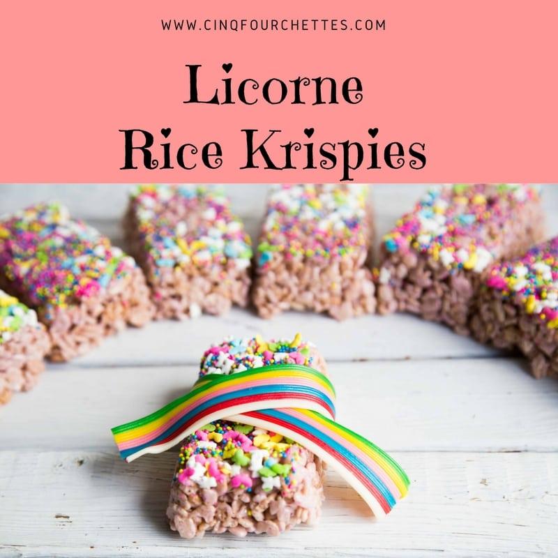 Carré Rice Krispies Licorne / Cinq Fourchettes