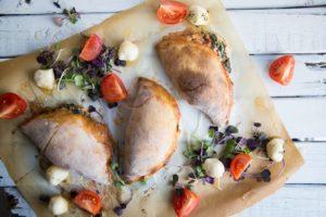 Calzones feta, épinards et saucisses piquantes / Cinq Fourchettes