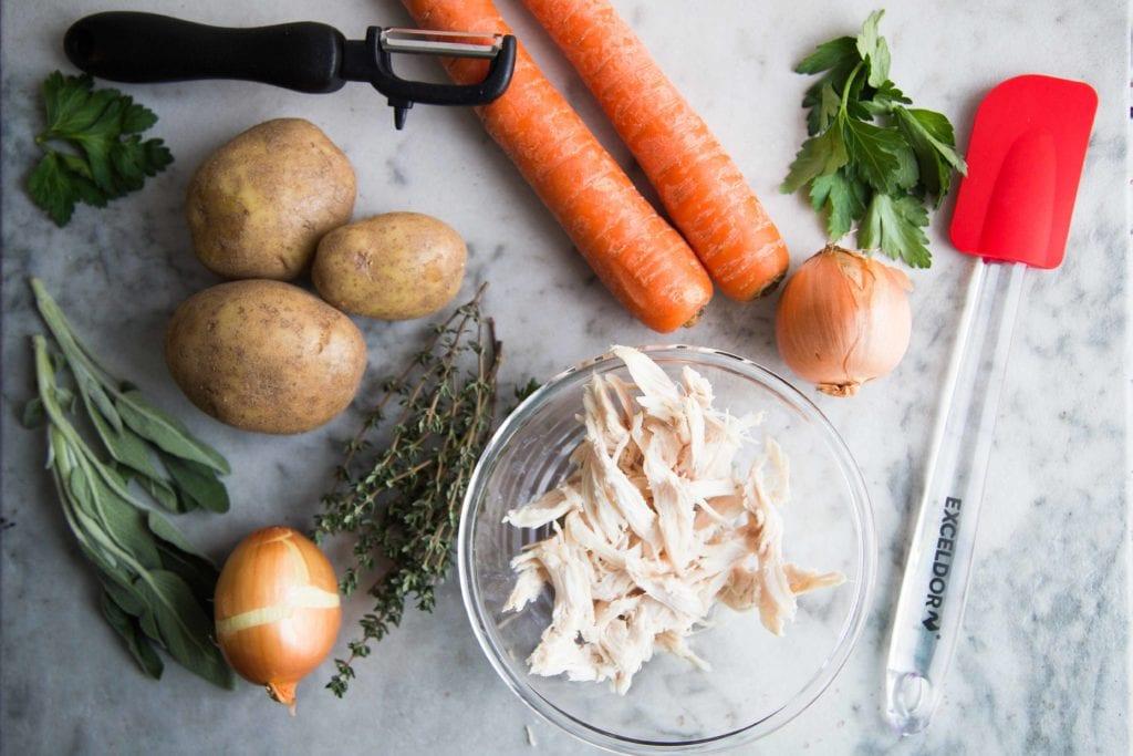 Soupe crémeuse à la dinde et aux pommes de terre / Cinq Fourchettes