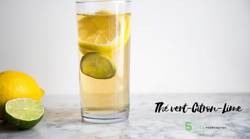 Thé vert citron lime Cinq Fourchettes