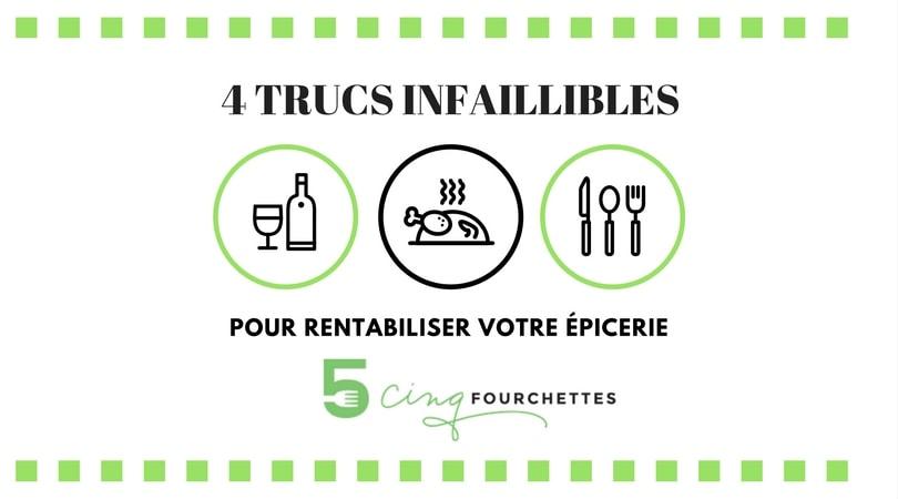 4 trucs infaillibles pour rentabiliser votre épicerie / Cinq Fourchettes
