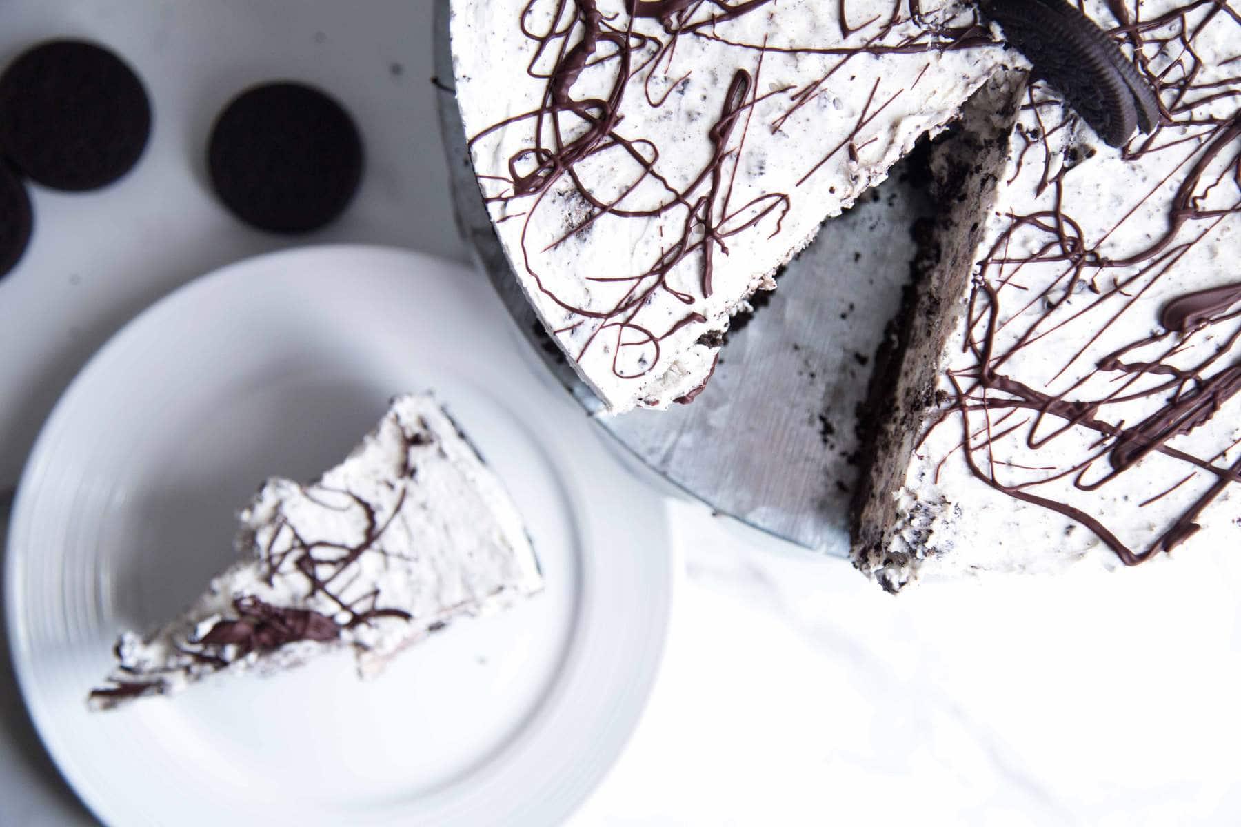 Gâteau au fromage Oreo SANS CUISSON ! Cochon, cochon ! /Cinq Fourchettes