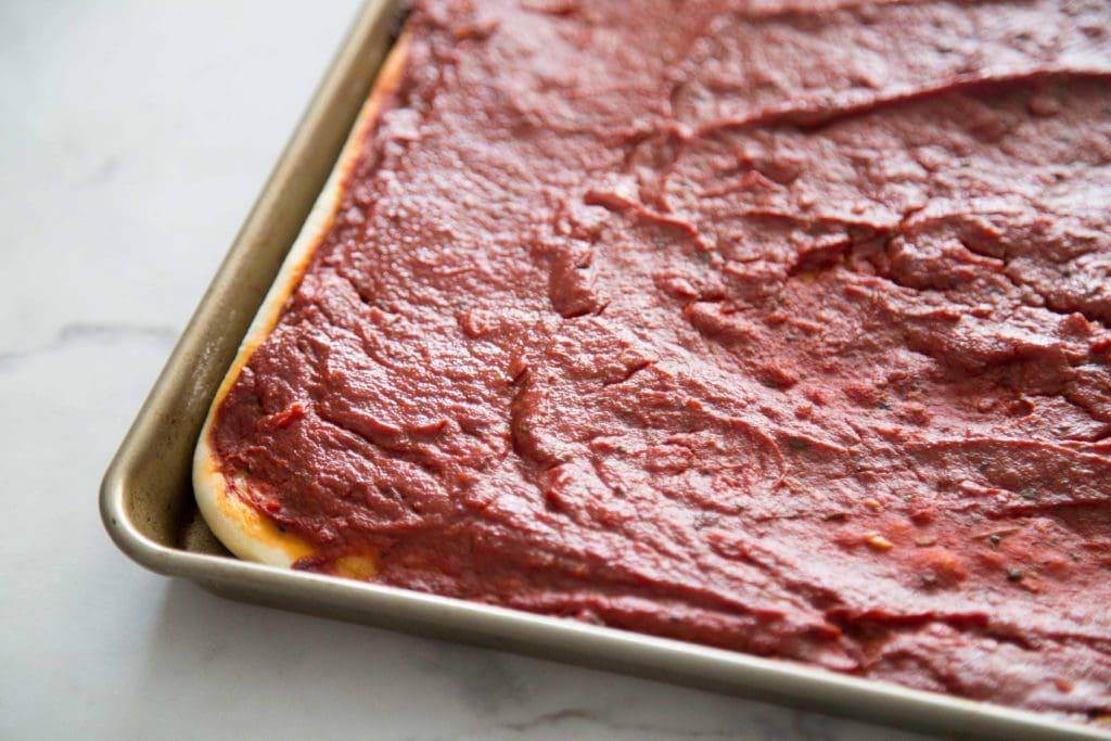Pizza froide aux tomates / Cinq Fourchettes