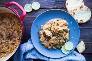 Réconfort : poulet au curry et lait de coco / Cinq Fourchettes