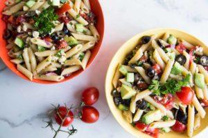 Salade de pâtes à la méditerranéenne Cinq Fourchettes