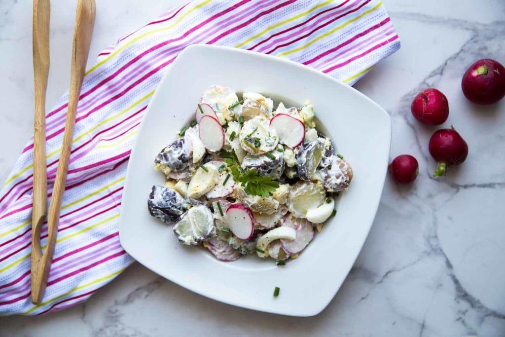 Salade de patates allégée Cinq Fourchettes