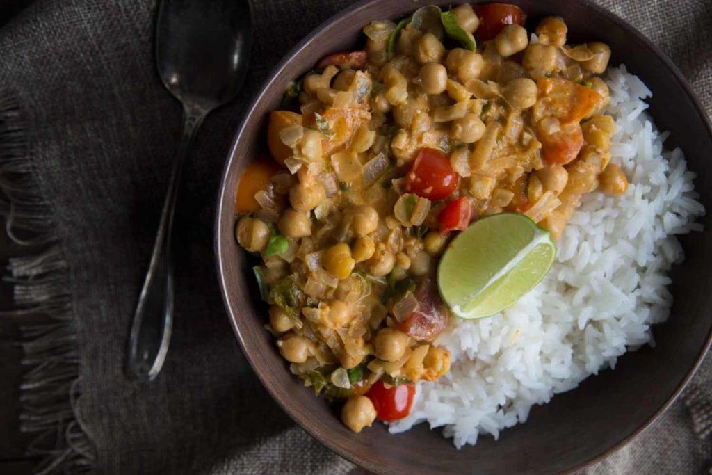 lundi sans viande : curry végé Cinq Fourchettes