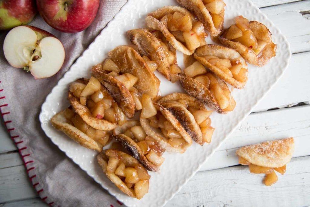 Dessert facile : Mini taco sucré aux pommes Cinq Fourchettes
