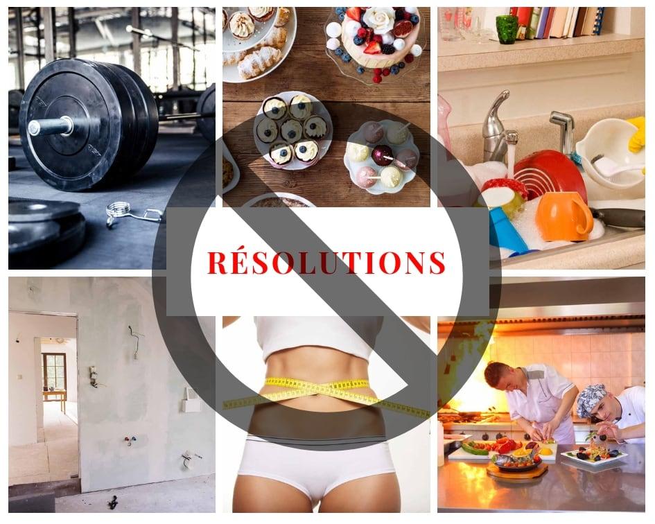 Les 6 résolutions je ne prendrai pas cette année Cinq Fourchettes