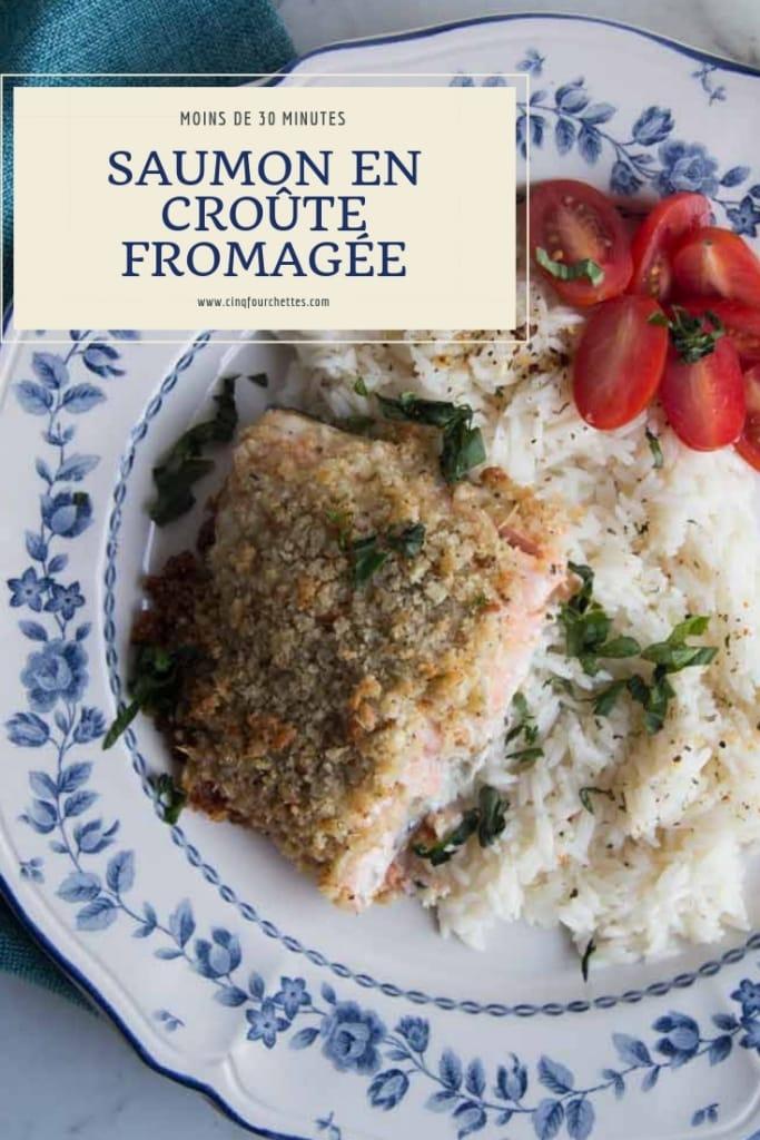 Saumon en croûte fromagée - prêt en moins de 30 minutes Cinq Fourchettes