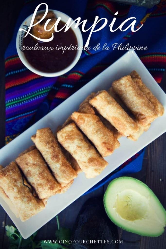Lumpia (rouleaux impériaux de la Philippine)Cinq Fourchettes