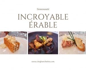 Un nouveau livre à faire saliver : Incroyable érable ! Cinq Fourchettes