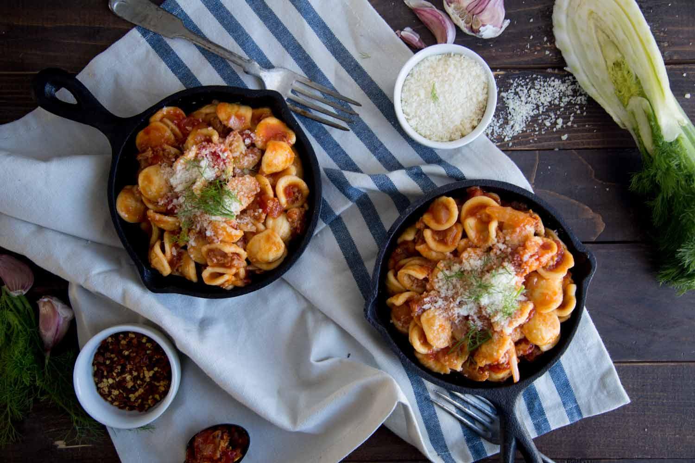 Orecchiettes à la saucisse et fenouil Cinq Fourchettes