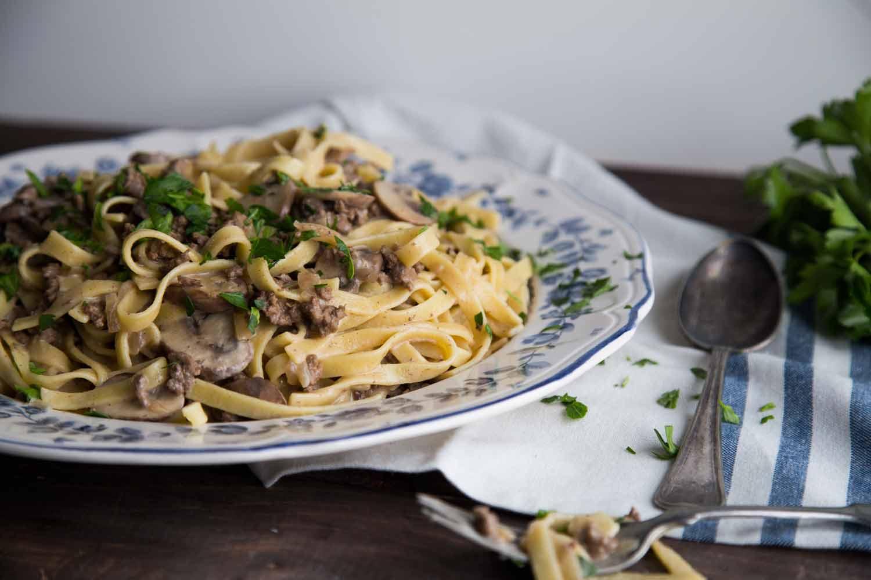 One Pot Pasta Bœuf Stroganoff Cinq Fourchettes