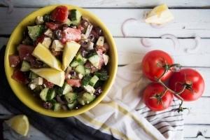 Salade grecque maison FACILE Cinq Fourchettes